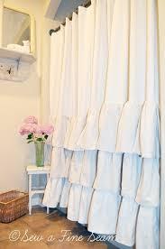 Shower Curtains Ebay Curtain Ruffled Curtains Ebay Inside Ruffled White Curtains