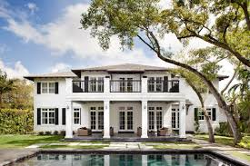 plantation style home neoclassical plantation style miami home with pool pavilion