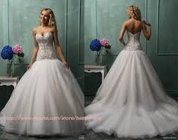 dropped waist wedding dress sweetheart gown wedding dress with lace appliques beaded drop
