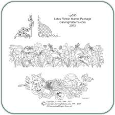 Beginner Wood Carving Patterns Free by Lotus Mantel Flower Wood Carving U0026 Pyrography Patterns By L S