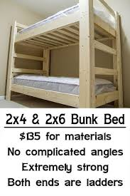 Wood To Make Bunk Beds by Easy Strong Cheap Bunk Bed Diy Wood Projects Pinterest