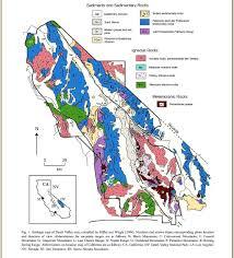Death Valley Map Volcanoes Of The Eastern Sierra Nevada