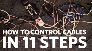 wall mounted cable management system easy cable management control your cables in 11 steps youtube