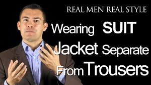 can men wear suit jackets separate from suit trousers male style