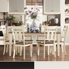 two tone dining table set tribecca home eli rustic two tone mission extending dining set