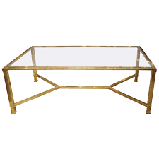 Brass Glass Coffee Table Vintage Glass And Brass Coffee Table Tables House And Room