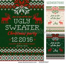 ugly christmas sweater flyers download free vector art stock
