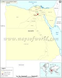 Blank Map Of Egypt by Where Is Cairo Location Of Cairo In Egypt Map