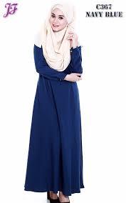 delina jubah button c367 navy blue