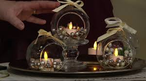 luminara s 3 blown glass ornaments with flameless tealight candle