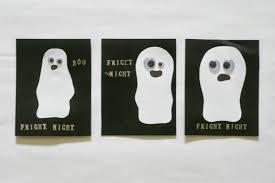 the pink doormat ghost halloween invites