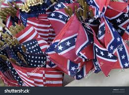 Rebel Flags Images Civil War Reenactment American Union Confederate Stock Photo