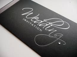 and black wedding invitations foiled cheque book wedding invitation with black pearlised card