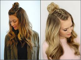 half up half down top knots best for summer time hairstyles 2017