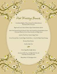 brunch wedding menu center stage catering rocky mount va creative menus post