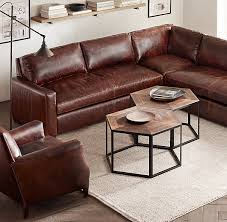 Petite Furniture Living Room by The Petite Maxwell Leather Customizable Sectional Fairview