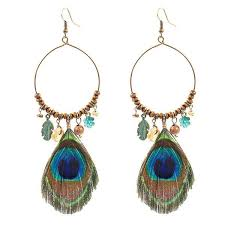 peacock feather earrings peacock feather earrings bese saka ca