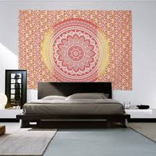 Wall Decals Mandala Ornament Indian by Indian Decor Mandala Tapestry Wall Hanging Hippie Throw Bohemian