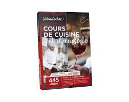 coffret cours de cuisine box cours de cuisine et d œnologie 10 coffrets gastronomie par