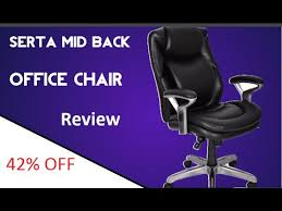 Serta Office Chair Review Serta Mid Back Office Chair Youtube
