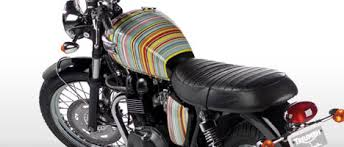 awesome stripes by paul smith on this triumph motorcycle triumph