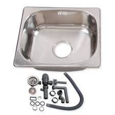 Campervan Small Cm Steel Motorhome Sink Waste Kit Ideal Self - Kitchen sink waste kit