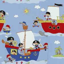 p u0026s pirate ship pattern dolphin vinyl children kids wallpaper 05490 10