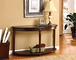 Accent Console Table Amazon Com Wood Dark Cherry Hallway Accent Sofa Console Table