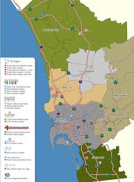 Map Of San Diego County by San Diego Submarket Map