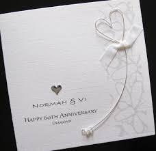 personalised handmade 60th diamond wedding anniversary card mum