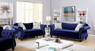blue furniture living room navy blue furniture of america jolanda tufted fabric