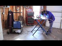 miller arcstation 30fx welding table miller introduces new f series arcstation folding workbench youtube