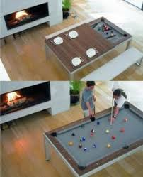 this is sucha cool idea pool table and dining table all in one www