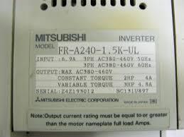 mitsubishi fr a240 1 5k ul inverter freqrol a200 fr pu02e unidad