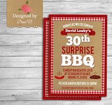 birthday invitation bbq surprise 30th birthday invite