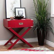 amazon com modern wood accent x base nightstand campaign sofa