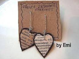 cardboard earrings dictionary earrings favecrafts
