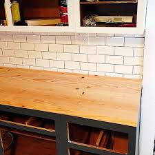 Diy Wood Kitchen Countertops by Diy Wood Plank Countertops