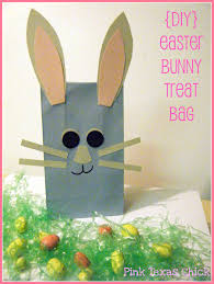 halloween treat bag craft easter bunny treat bags craft diy