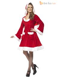 Ebay Halloween Costumes Adults Size 8 22 Ladies Santa Costume Womens Christmas Fancy