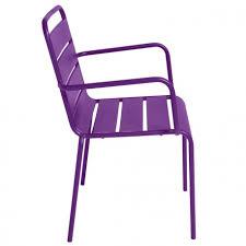 chaise violette fauteuil terrasse metal pas cher chaise restauration mobeventpro