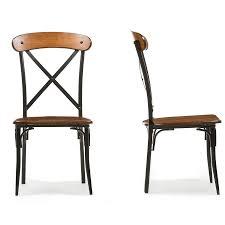 modern tables and chairs baxton studiobroxburn light brown wood u0026 metal dining chair