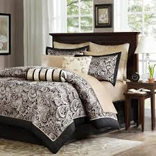 black gold bed bag luxury 12pc comforter set call king queen full