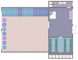 gym and spa area plans solution conceptdraw com simple floor plan