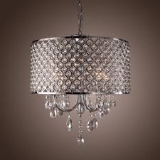 excellent crystal chandelier with 4 lights used pendant light and