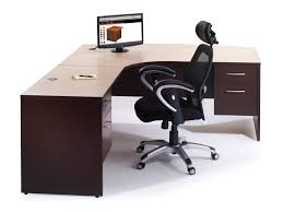 office desk furniture dark brown wooden office table with l