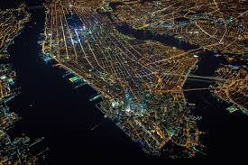 what a night in new york city looks like from 7 500 feet
