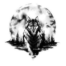 amazing wolf and moon design moon designs