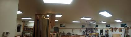 brightest ceiling light fixtures shop lighting for woodworkers the wood whisperer