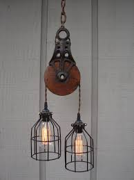 Pulley Island Light Fancy Pulley Pendant Light Fixture 26 With Additional 3 Pendant